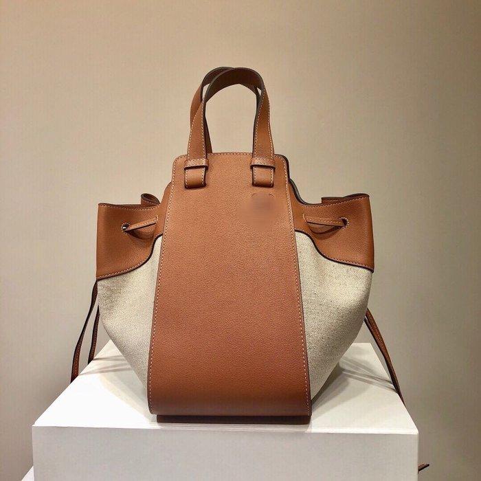 海外原單西班牙王室御用品牌原版牛皮Hammock Bag手提包吊床包