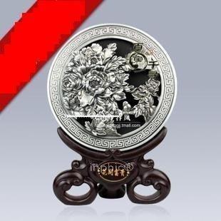 INPHIC-花開富貴-銀 活性炭雕 碳雕工藝品 擺飾  家居裝飾品
