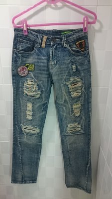 solberry 貼布破壞牛仔褲 30腰