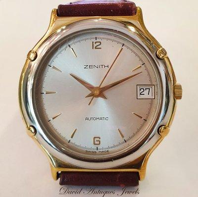 ((天堂鳥)) 新品刊登 ZENITH 真力時 雙色圓形瑞士紳士自動錶|不二價