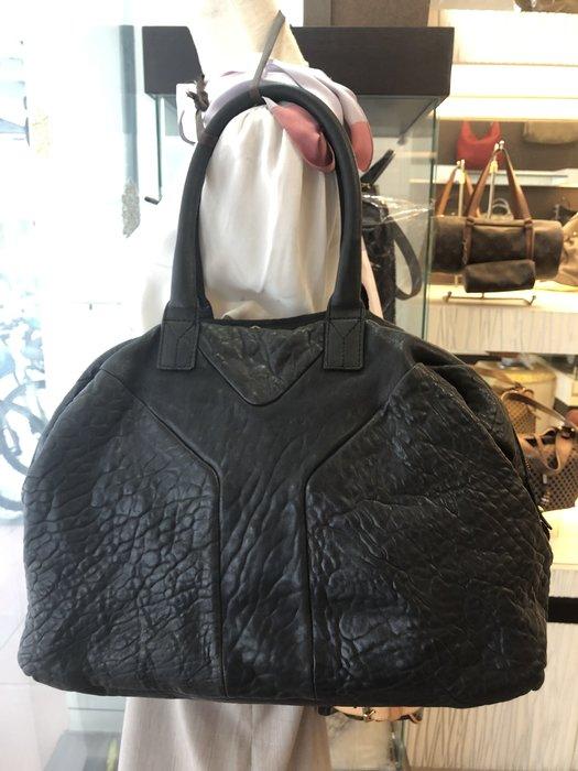 布蘭斯名牌館*專櫃真品YSL綿羊皮購物包附專櫃購買證明不到2折價