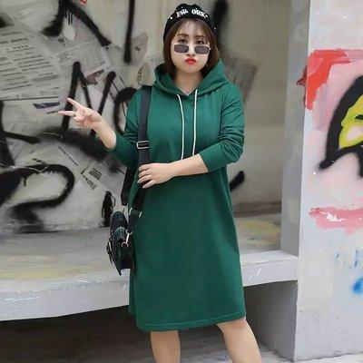 ✿plump girl 甜美✿中大尺碼女裝孕婦裝毛圈棉連衣裙1446