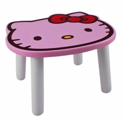 【卡漫迷】 Hello Kitty 大臉 小椅子 粉 ㊣版 板凳 矮椅 兒童椅 木椅 三麗鷗 凱蒂貓 台灣製造