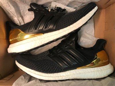 奈克狗不賣假貨 adidas ultra boost LTD 馬牌底金牌 皮革 BB3929 us9/9.5 奧運金牌