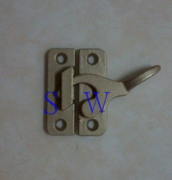 HS006 紗門勾( 銅製) 紗窗勾 紗門鎖 紗窗鎖 鋁門窗 門鉤 窗鉤 鋅鉤 窗門鎖 氣密窗 台灣製造