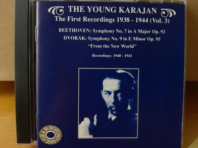 The Young Karajan,Beethoven/Dvorak-Sym No.7/9,青年卡拉揚首次錄音,演繹貝多芬/德弗扎克-第7/9號交響曲.