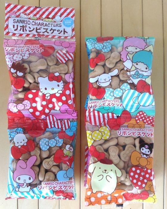 北陸 hello kitty 三麗鷗 蝴蝶結造型餅乾  KT蝴蝶結造型餅乾 蝴蝶結餅乾 4連包 蝴蝶結造型4連餅