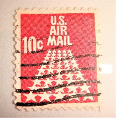 美國郵票(舊票) AIR MAIL 10c