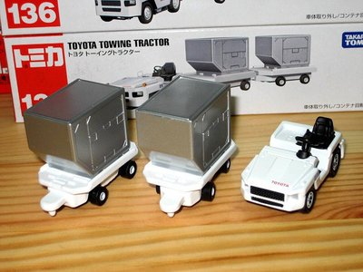 TOMICA (CITY) No.136 TOYOTA TOWING TRACTOR