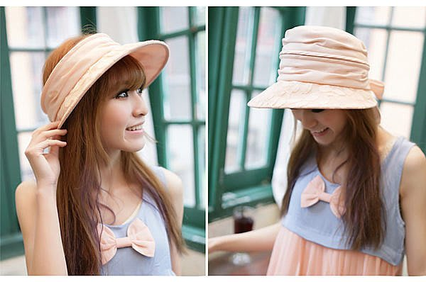 嘉芸的店 日本抗UV遮陽帽 RAYLI 可拆卸防曬太陽帽 女士夏天蕾絲小簷遮陽帽