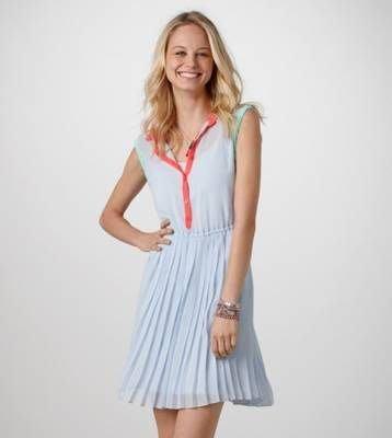 (BJGO) AMERICAN EAGLE 美國AEO百褶裙洋裝