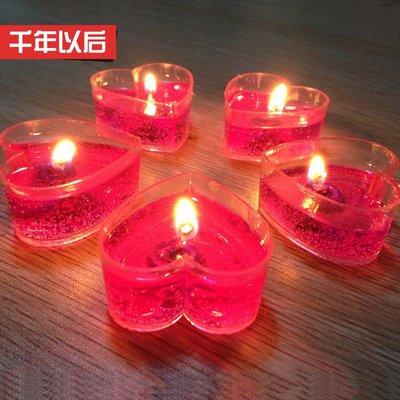 愛心形蠟燭浪漫生日創意表白求婚布置道具DSHY   全館免運