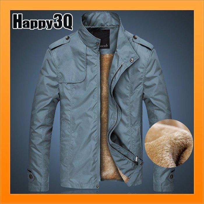 刷毛外套防寒外套男生外套夾克騎機車外套防風加厚加絨毛立領-黑/藍/棕M-4XL【AAA3404】