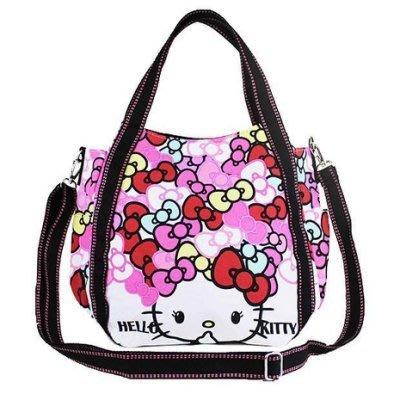 《東京家族》Helllo Kitty蝴蝶結系列    兩用托特包/斜背包大托特包  (現貨粉色)