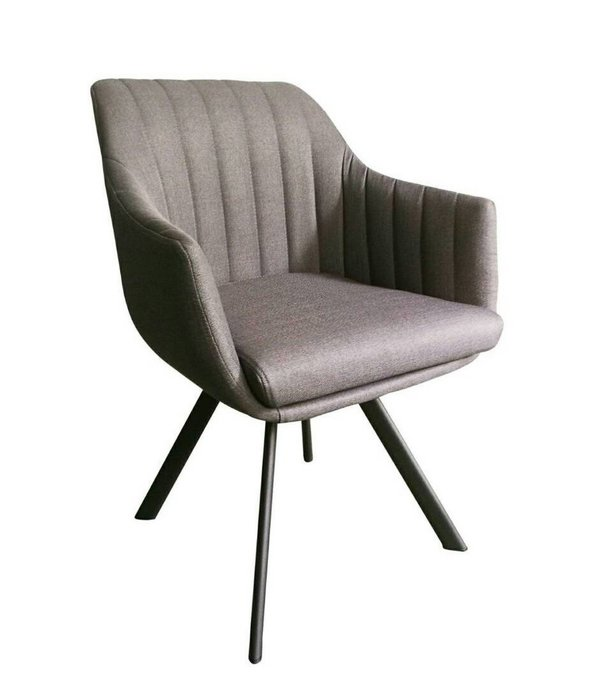 【微笑生活】卡斯鐵藝灰色布餐椅