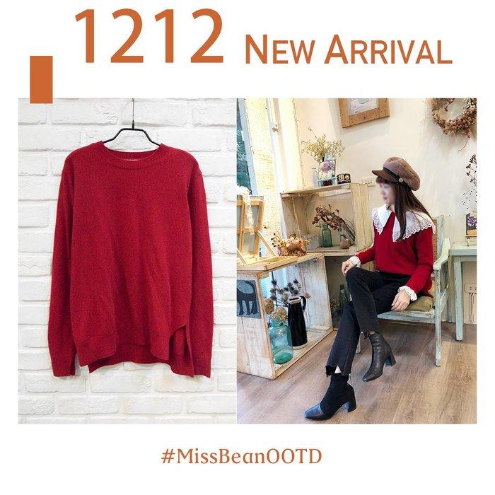 【B18112762】Aing正韓 簡單基本款穿搭 圓領cashmerec混羊毛 輕薄溫暖毛衣(單一)
