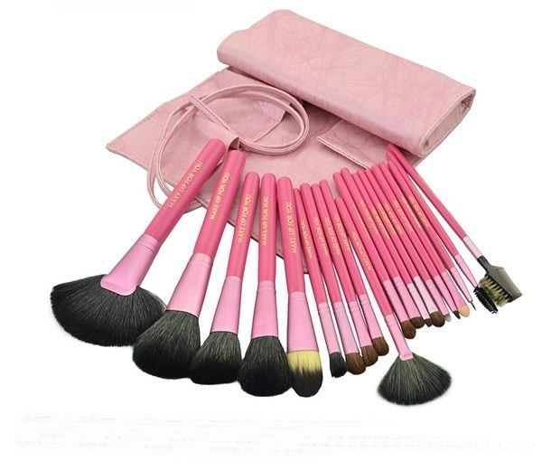 【愛來客 】粉紅色高質感20件彩妝刷具組 乙丙級考試專用刷具化妝刷批發(現貨)