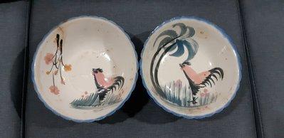 11、早期公雞大碗公/早期浮雕火雞盤/公雞盤/碗盤/魚盤/(限自取)