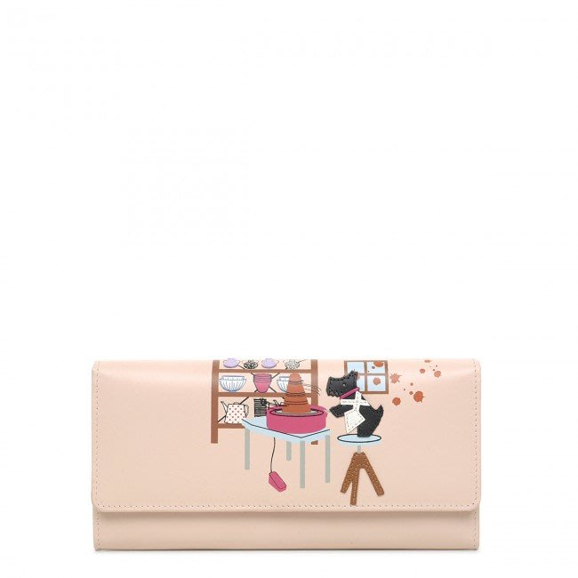 Coco小舖英國 Radley London Gone Potty Matinee Flapover Wallet 粉色