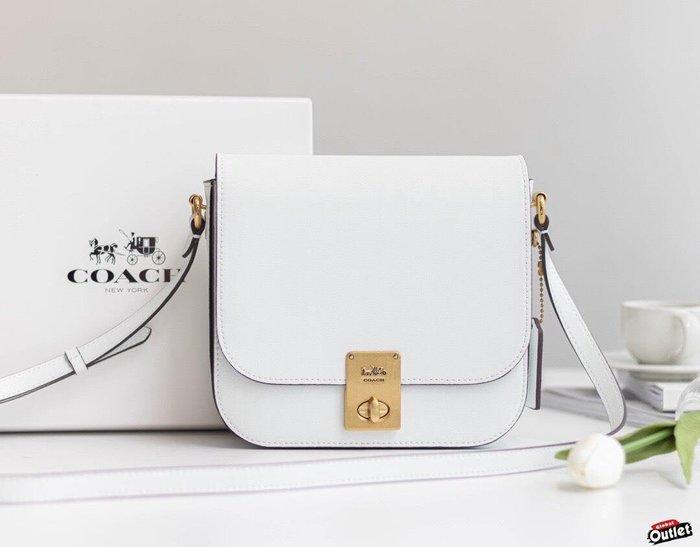 【全球購.COM】COACH 2080-610 2020新款 全皮馬鞍包 白色豆腐包 斜跨包 美國代購
