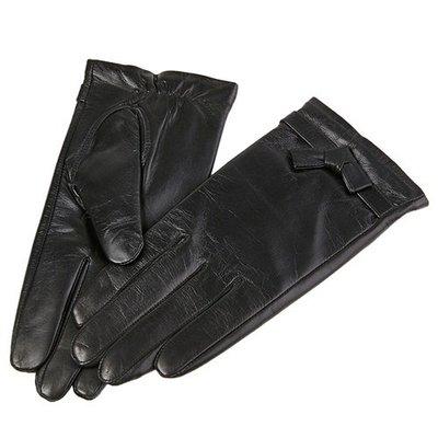 觸控手套 真皮手套-山羊皮薄款可愛皮條結女手套73wm66[獨家進口][米蘭精品]