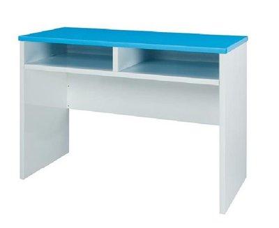 ~巧匠家具批發廣場~14176-698-09   塑鋼科技 3.3x 1.5尺 藍/白色書桌~