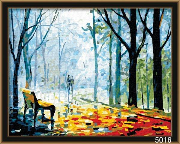 八號倉庫 DIY手繪風景人物花卉數字油畫 40x50【1T112X670】18下標區
