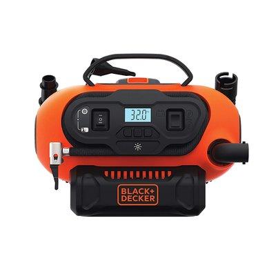 ~美國百工 BLACK DECKER 無線電動打氣機 多 充氣機~家用110V 車用12V 鋰電池20V