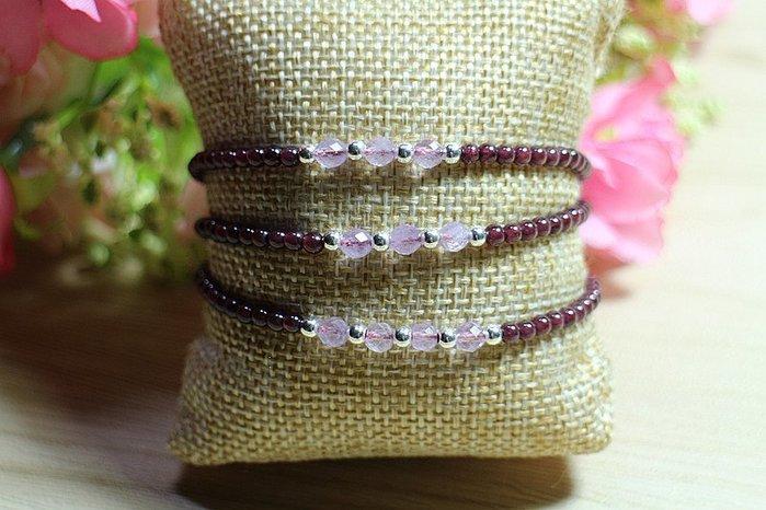 { 石曜 } 天然 切面紫水晶 紅石榴 108顆 水晶手鍊 多圈 運費可合併 CC-54