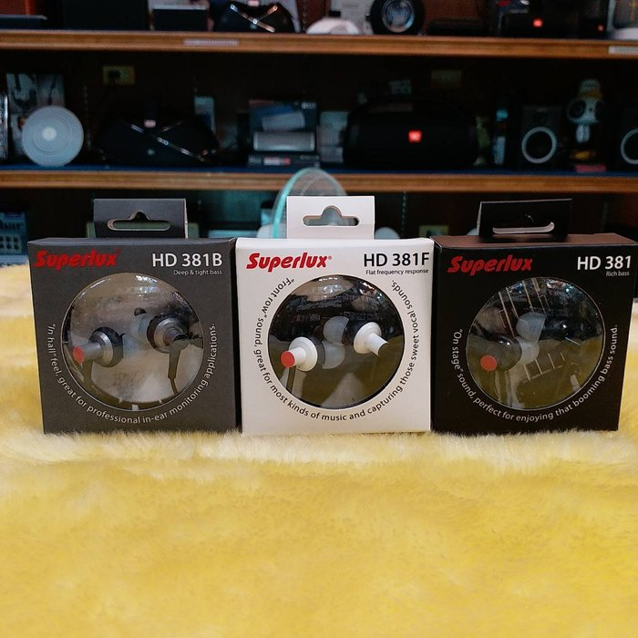 視聽影訊 附集線器 送收納袋Superlux HD381 HD381F HD381B 耳道耳機 公司貨保固一年
