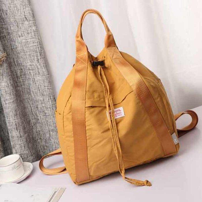 創意 旅行必備 日本潮牌背包新款ins超火的雙肩包大學生包抽繩輕薄男女通用書包
