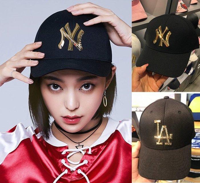 MLB 洋基隊道奇隊棒球帽   金屬標限量款