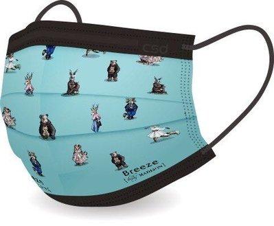 絕版 限量 中衛🌟絕版收藏品 CSD x Breeze聯名款拋棄式成人平面口罩 微風兔兔 盒裝販售