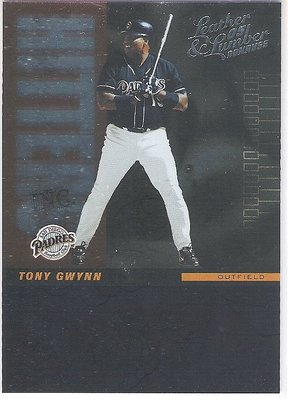 2005 LEATHER & LUMBER #HI-21 TONY GWYNN   限量特殊卡 0658/2000