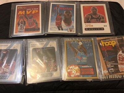 Michael Jordan vintage 7 cards lots 復古卡合售