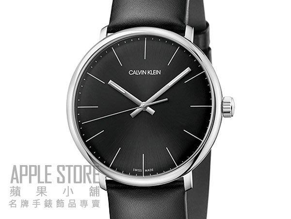 【蘋果小舖】Calvin Klein 時尚雅痞大三針皮帶腕錶-黑色 K8M211C1