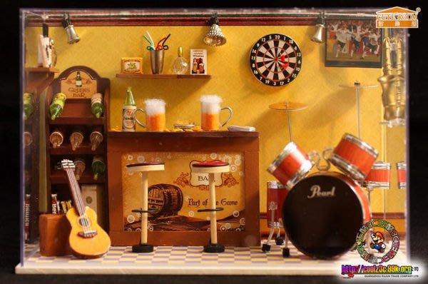 【酷正3C】我的DIY小木屋 袖珍屋 T008世界盛事 帶燈 帶音樂 防塵罩