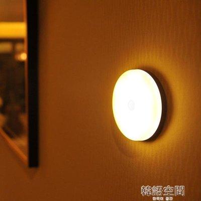 小夜燈led充電樓道起夜光控聲控創意臥室床頭燈自動人體感應壁燈