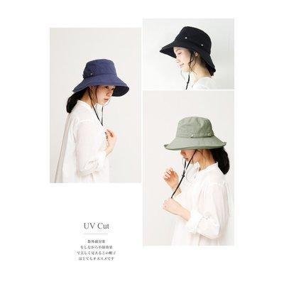 【PD帽饰】《JAB》日本AUBE 大寬檐可折疊好收納抗UV漁夫帽(附防風繩)