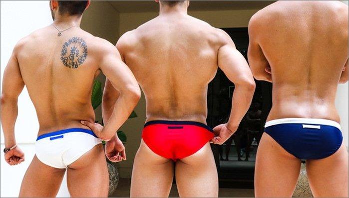 創意 舒適  男士拼色印花性感三角泳褲 時尚沙灘比基尼泳褲溫泉褲