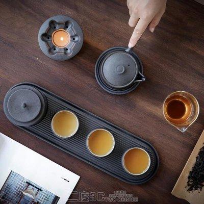 【蘑菇小隊】隱匠日式簡約暖茶功夫茶具辦公陶瓷乾泡小茶盤溫茶壺茶杯套裝家用-MG67032