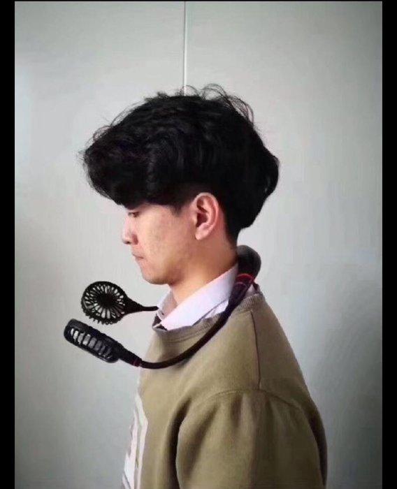 凱莉代購 Wearable Sports Fan最新款第四代可拆式 懶人掛脖風扇 3色 黑色/粉色 現貨