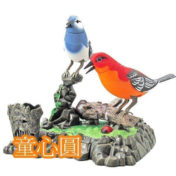 聲控雙鳥 可當做筆筒 家居擺設裝飾◎童心玩具1館◎