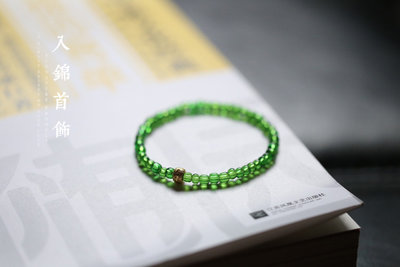 MAMAmi古店 破曉丨天然古法琉璃 包金轉經輪手鍊