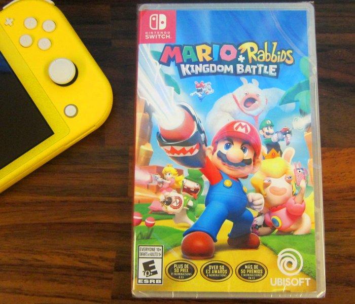 Nintendo任天堂NS Switch瑪利歐+瘋狂兔子王國之戰Mario+Rabbids Kingdom Battle