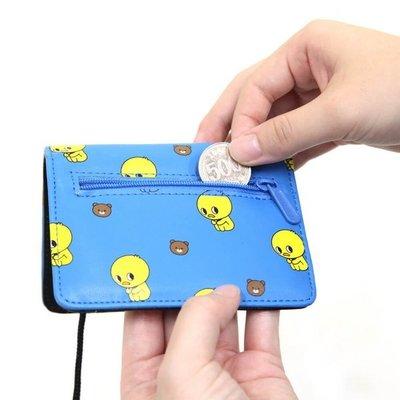 ♀高麗妹♀韓國 Pinkfoot NUNCHI DUCK 悠遊卡/證件 可放零錢.紙鈔萬用包附頸繩(4色選)預購