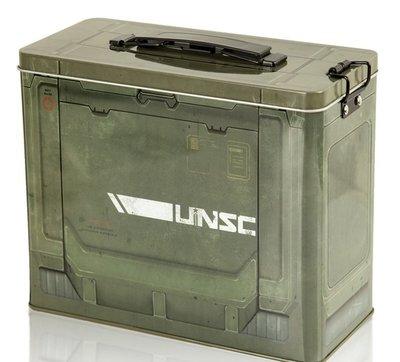 【丹】J!NX_HALO AMMO CRATE TIN LUNCHBOX 最後一戰 午餐盒 餐盒 美國代購 官方授權