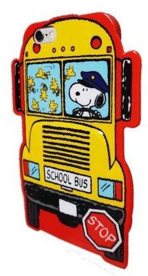 尼德斯Nydus~* 日本正版 史努比 Snoopy 黃色巴士 手機殼 軟殼 iPhone6 4.7吋 共2款