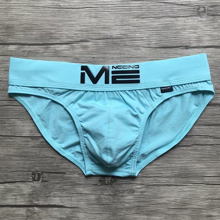 創意 舒適 MENCCINO新款男士內褲 三角 青年棉質低腰性感 囊袋運動內褲