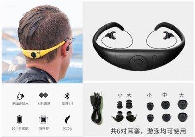 【益本萬利】Tayogo頭戴式游泳mp3防水音樂播放器運動mp3跑步藍芽游泳防水耳機